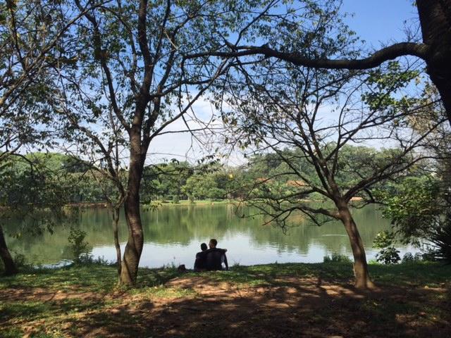 parque ibirapuera relaxar