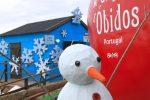 boneco de neve na obidos vila natal