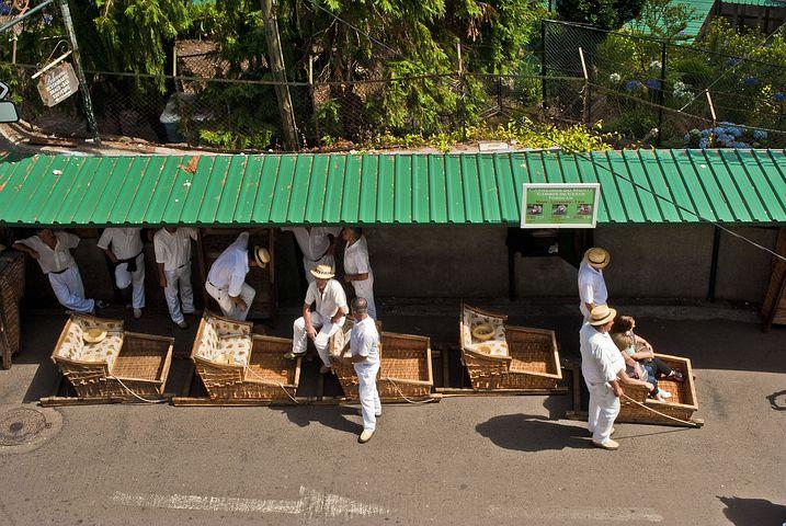 carros de cestos madeira