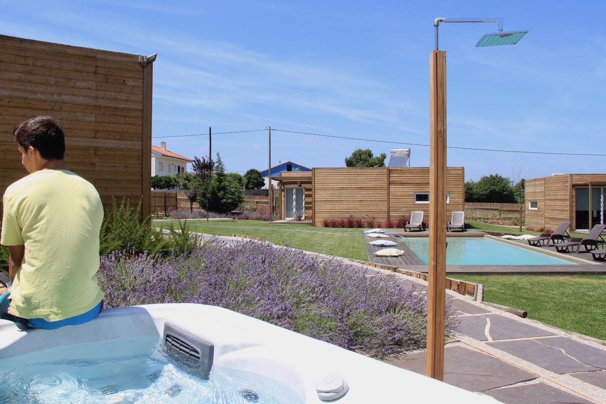 obidos wood villas jacuzzi