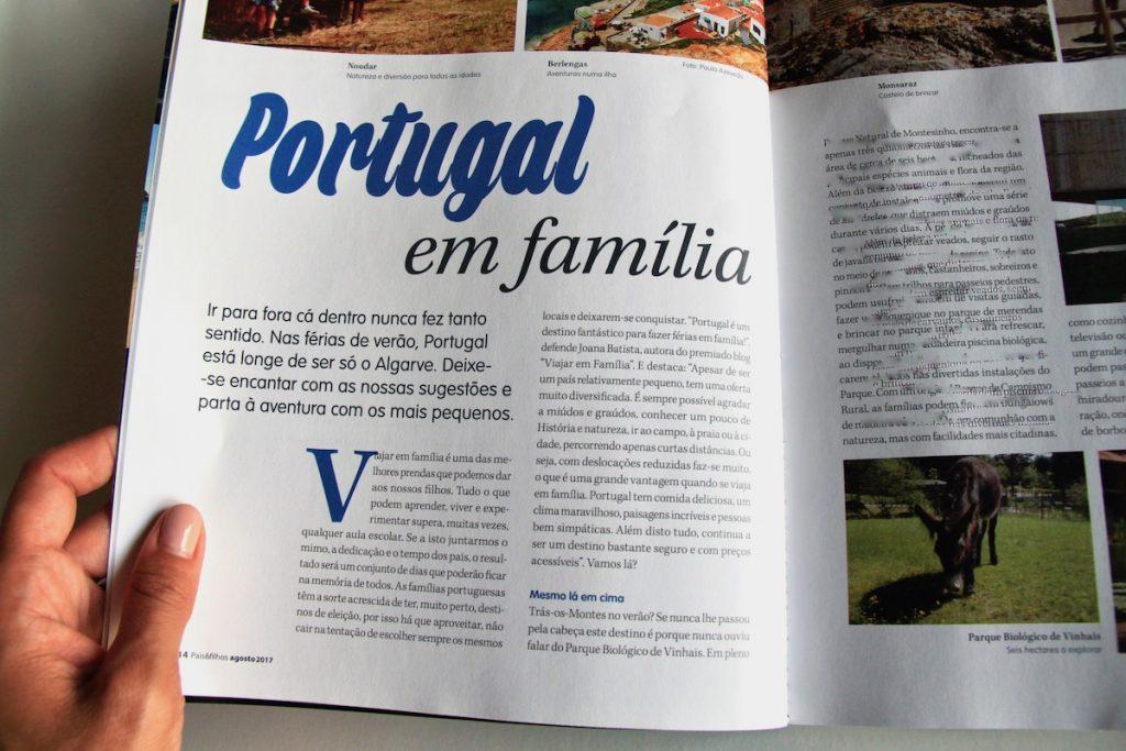 portugal em familia na revista pais & filhos