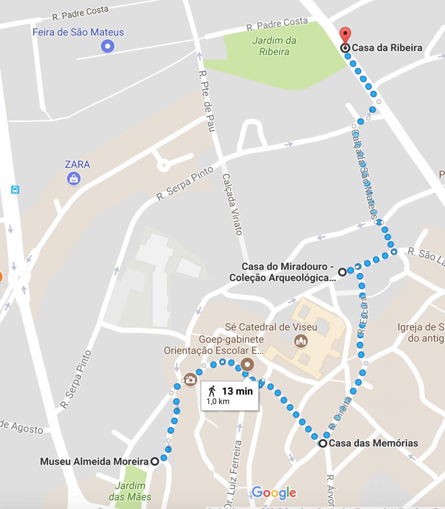 mapa museus de viseu