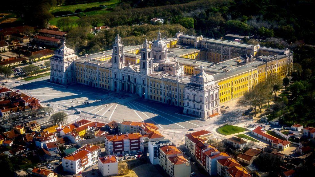 palacio nacional de mafra vista aerea