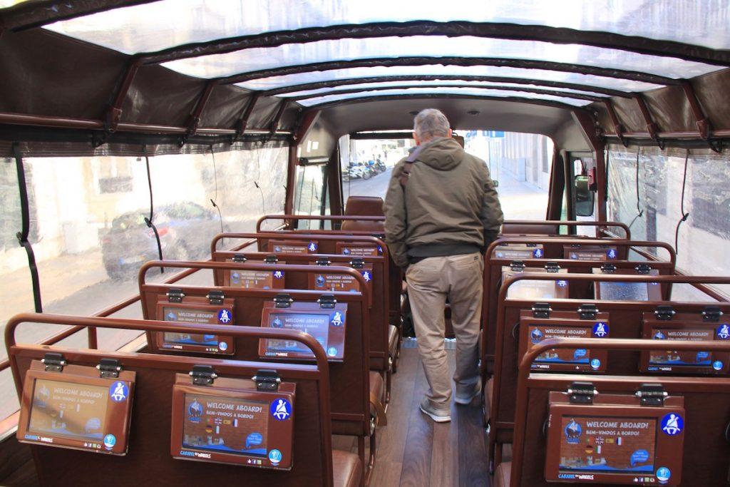 caravel on wheels assentos