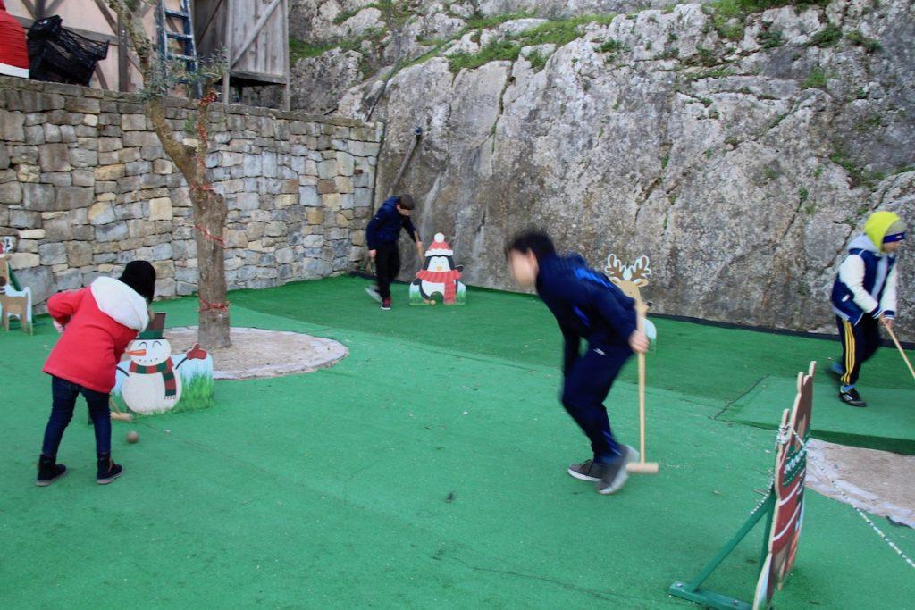 obidos vila natal 2017 mini-golfe