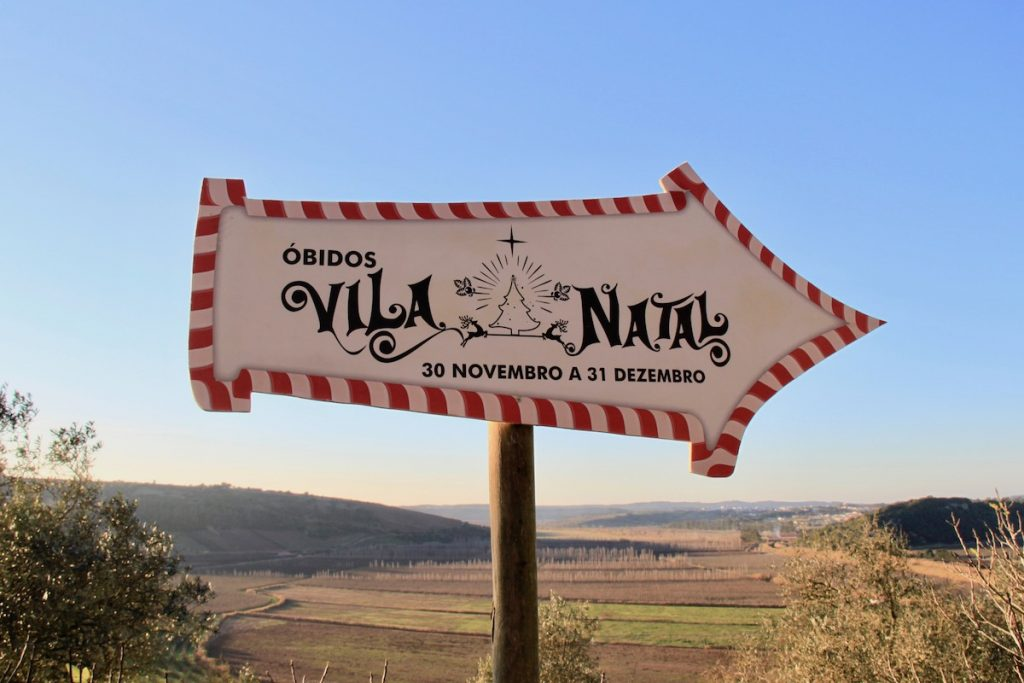 obidos vila natal 2017 sinal
