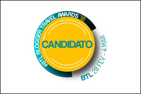 Selo candidato BTL blogger travel awards 2018